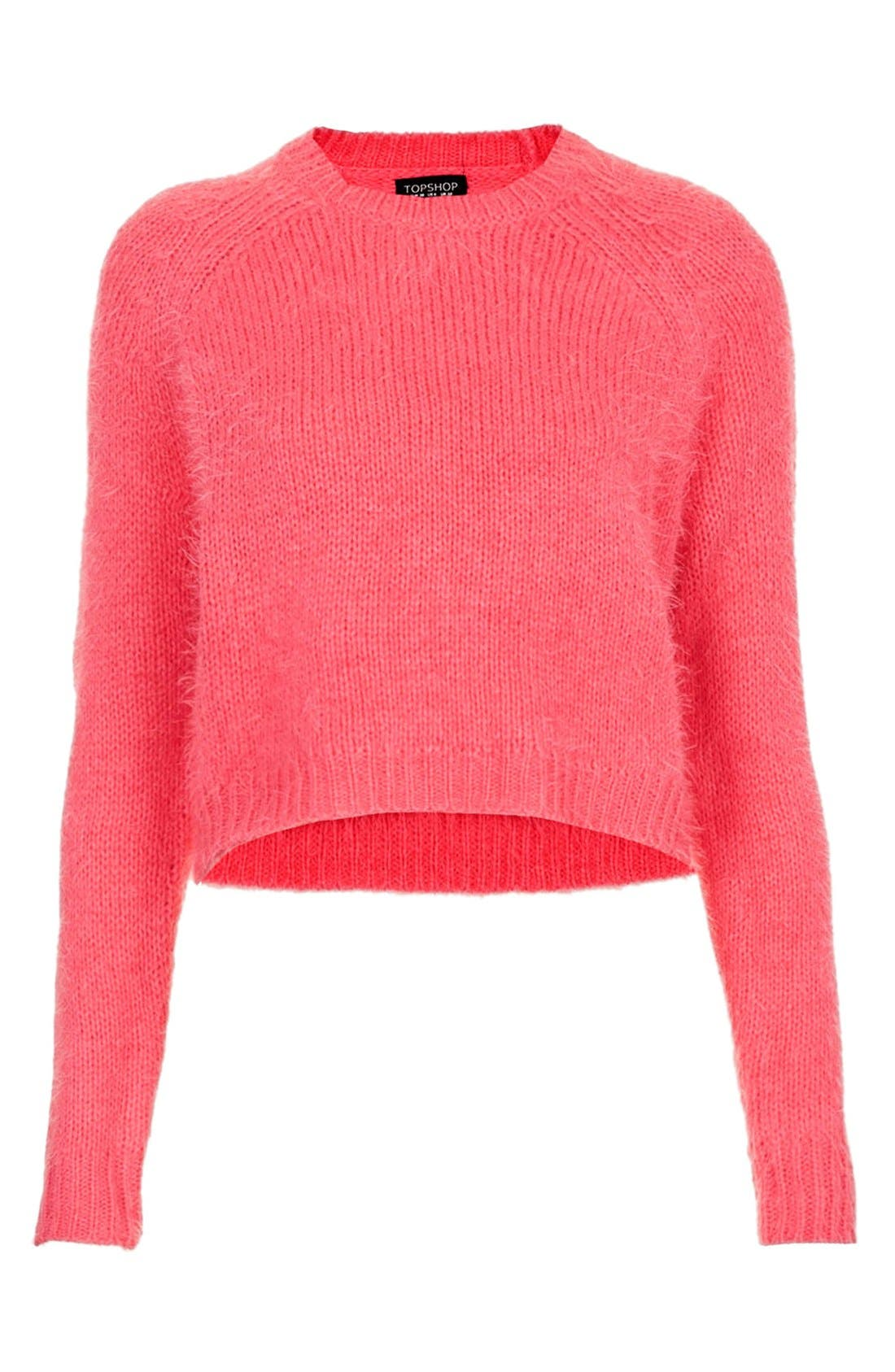 Alternate Image 3  - Topshop Textured Crop Sweater