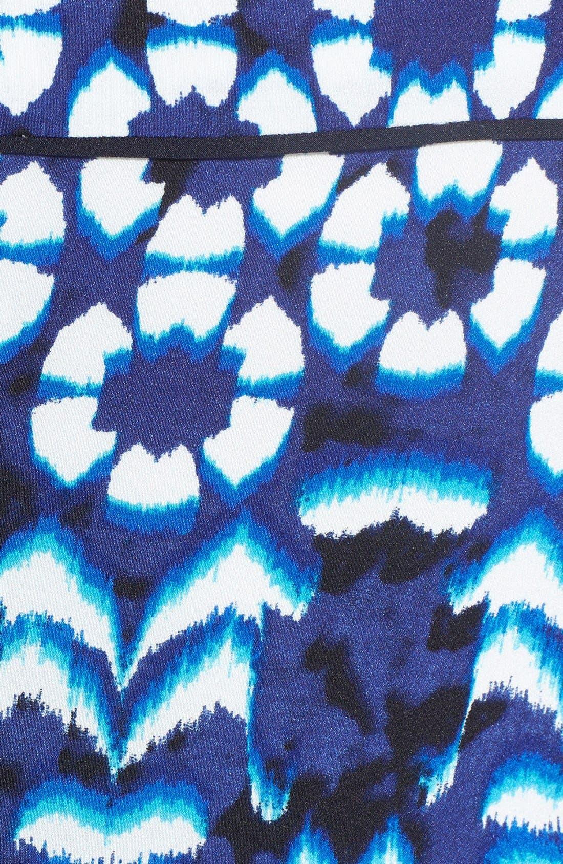 Alternate Image 4  - Adrianna Papell Print Crêpe de Chine Fit & Flare Dress