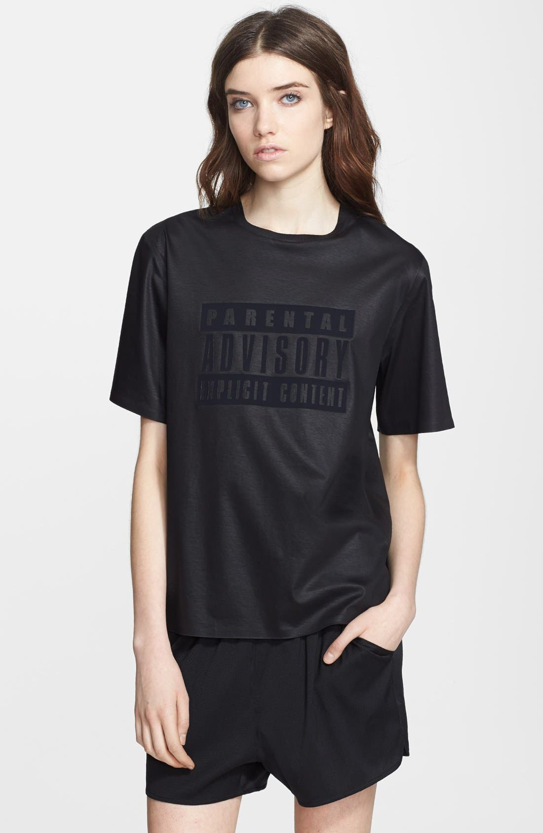 Alternate Image 1 Selected - Alexander Wang 'Parental Advisory' Crewneck Tee