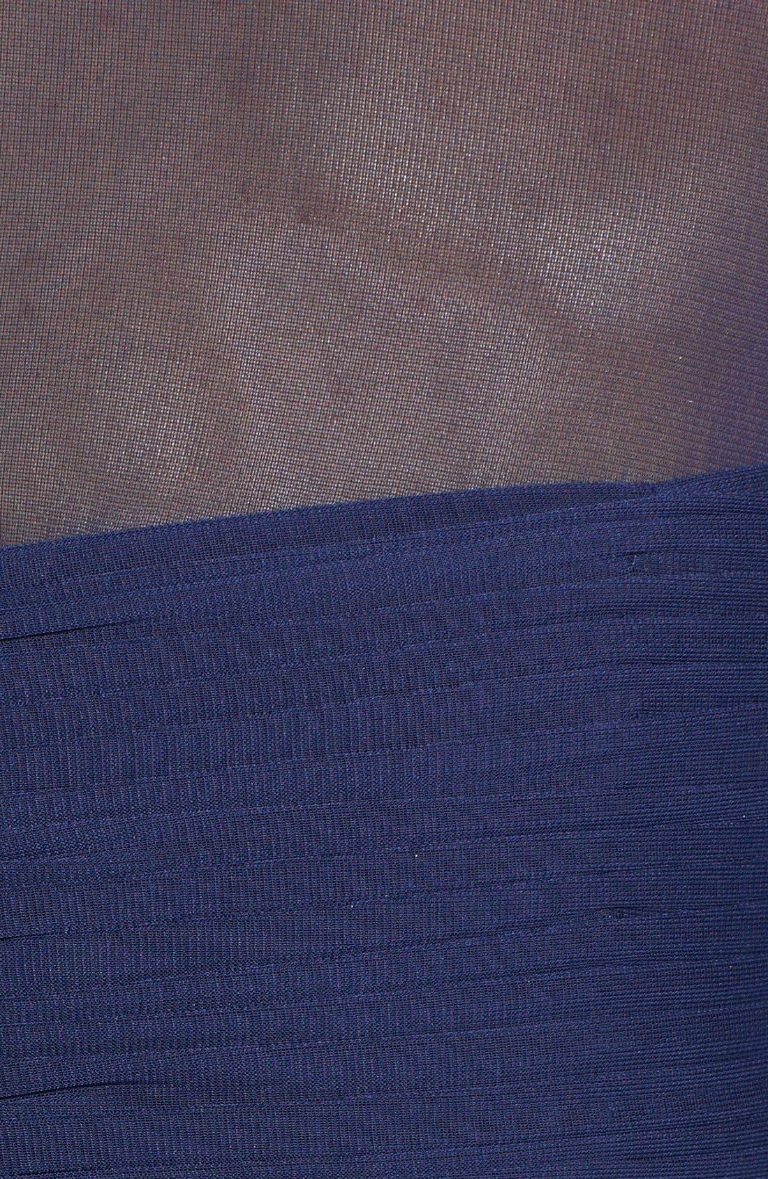 Alternate Image 4  - Alex Evenings Embellished Illusion Yoke Chiffon Fit & Flare Dress (Regular & Petite)