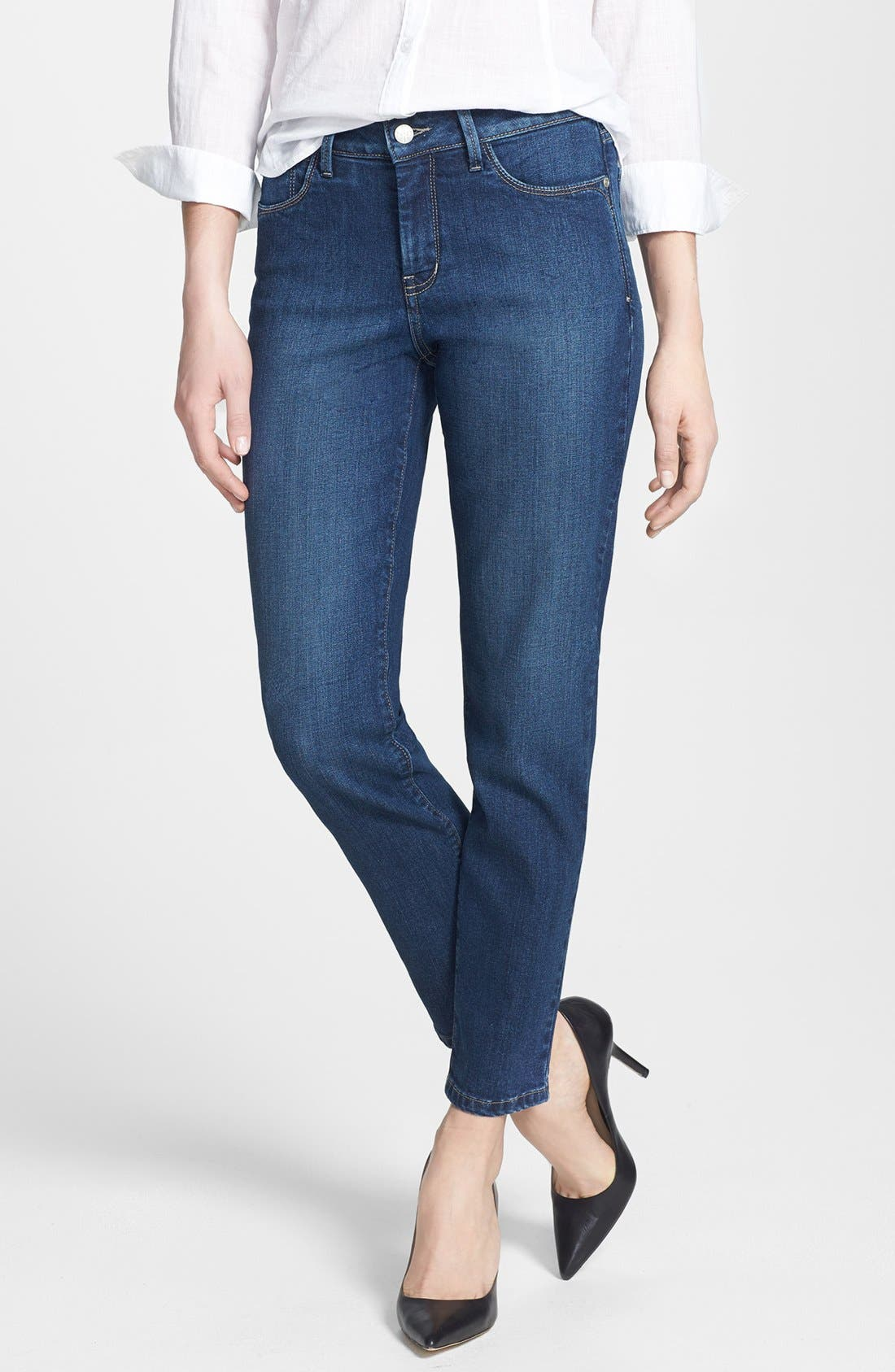 Alternate Image 1 Selected - NYDJ 'Clarissa' Fitted Stretch Ankle Skinny Jeans (Riverbank) (Regular & Petite)