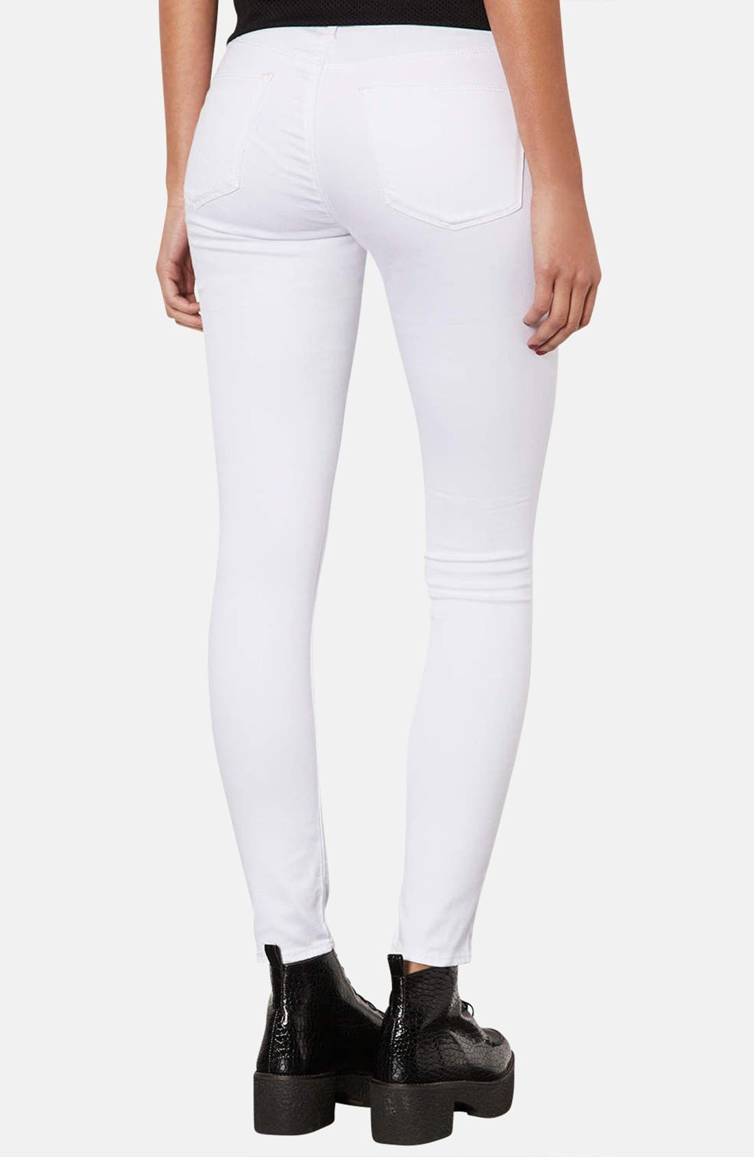 Alternate Image 2  - Topshop Moto 'Leigh' Skinny Jeans (Regular & Short)