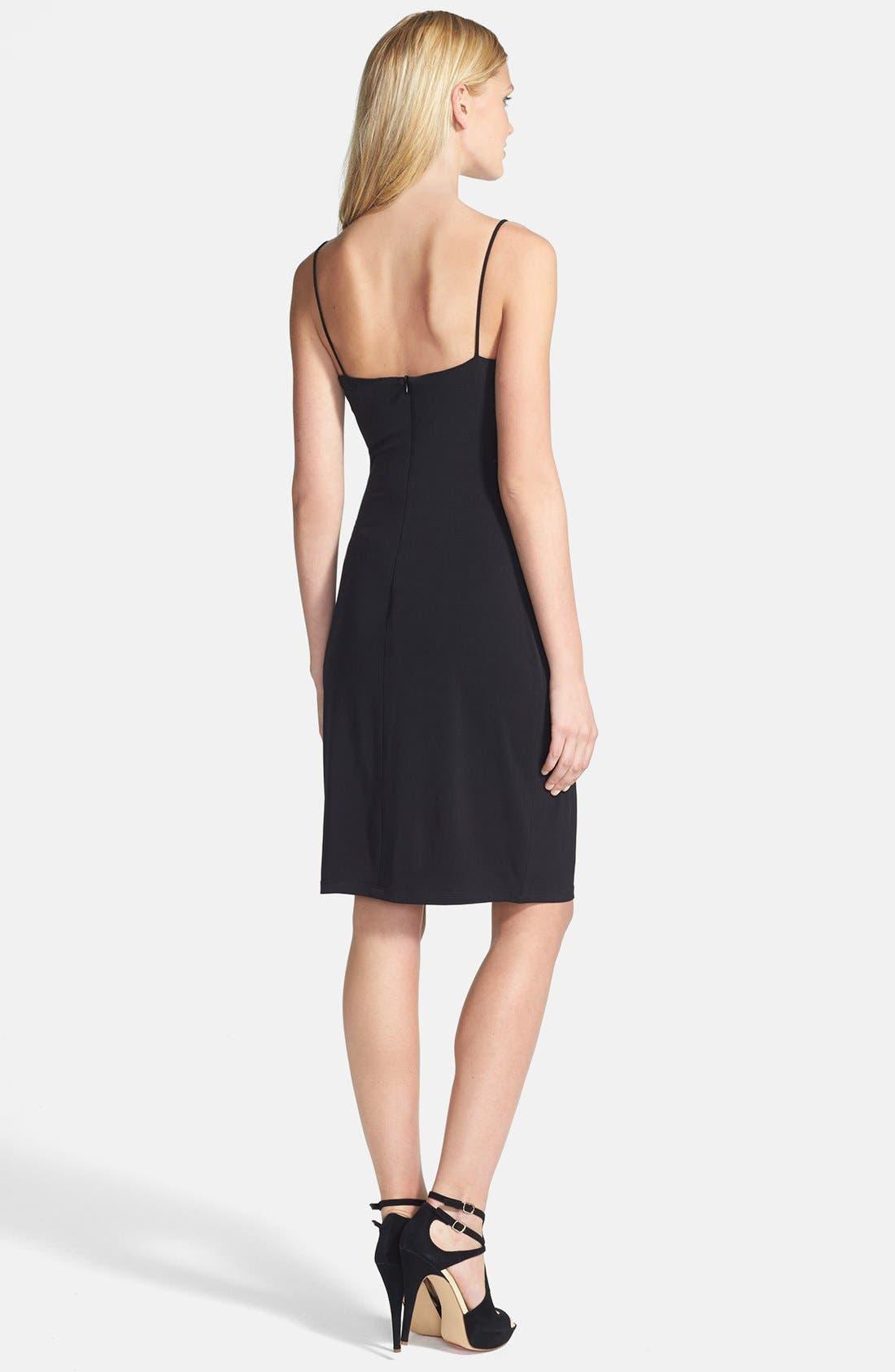 Alternate Image 2  - Laundry by Shelli Segal Spaghetti Strap Ruched Jersey Dress