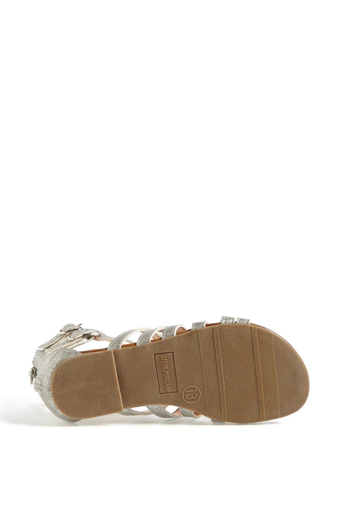 Alternate Image 4  - Steve Madden 'Plato' Gladiator Sandal (Little Kid & Big Kid)