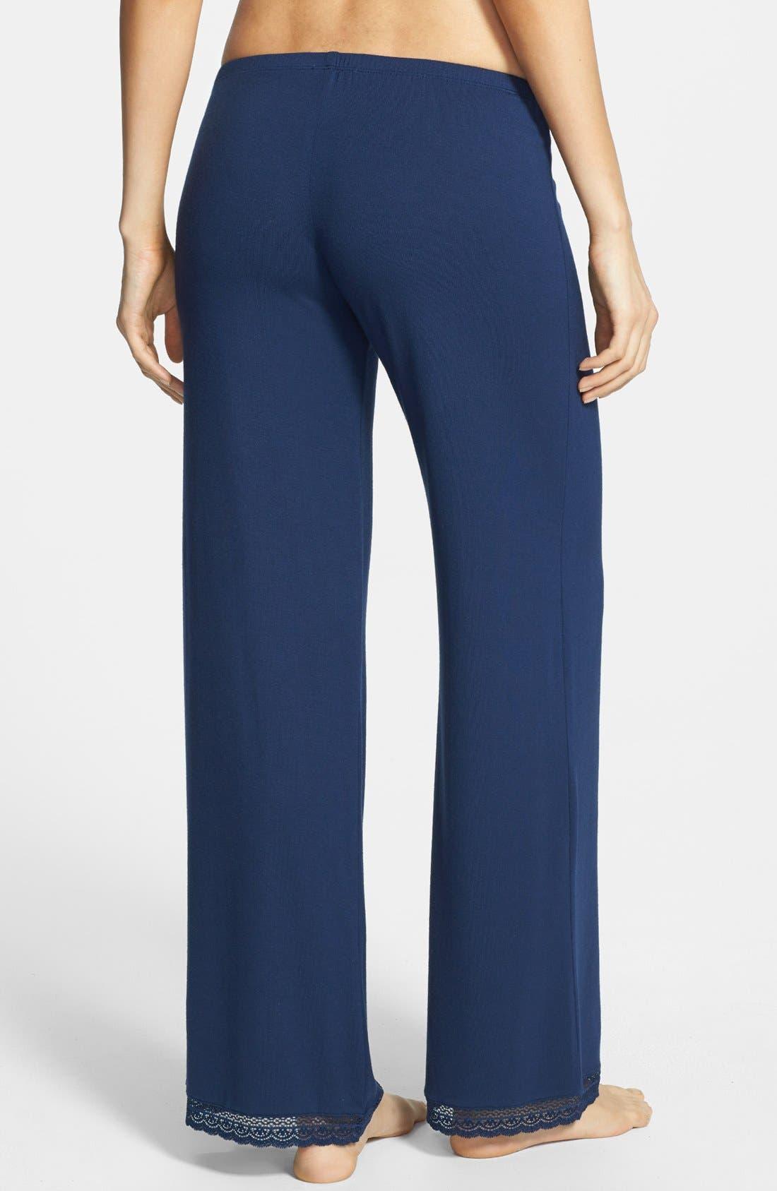 Alternate Image 2  - Eberjey 'Gisele' Lace Jersey Pajama Pants