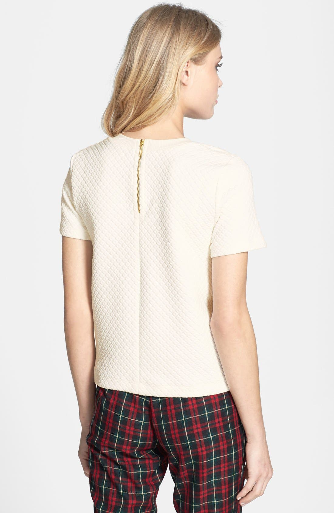 Alternate Image 2  - Topshop Quilted Tee