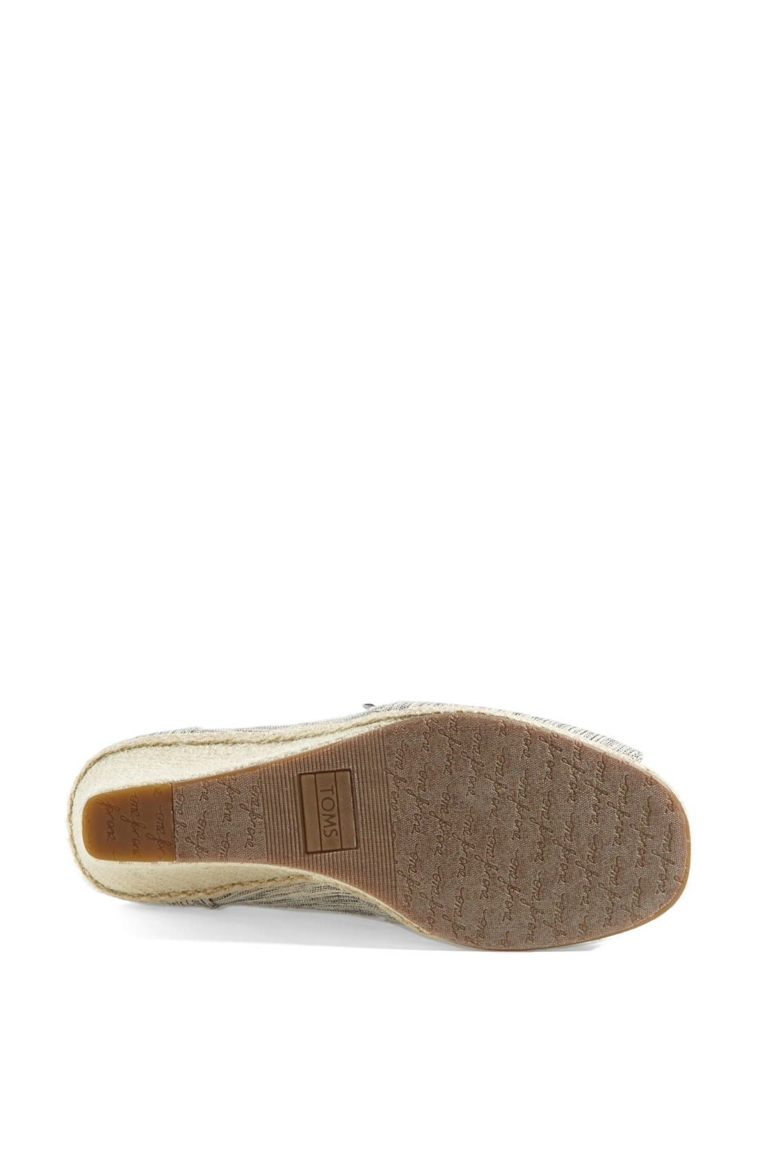 Alternate Image 4  - TOMS Space Dyed Wedge (Women)