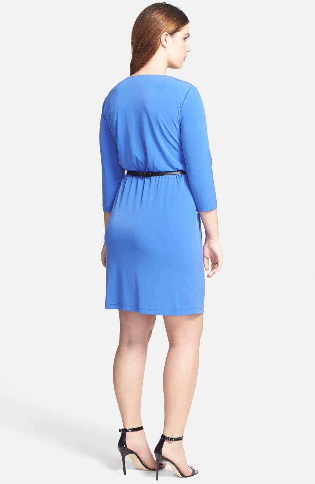 Alternate Image 2  - Tahari by ASL Jersey A-Line Dress (Plus Size)