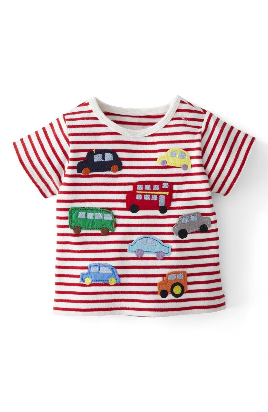Alternate Image 1 Selected - Mini Boden 'Little Vehicles' Cotton T-Shirt (Baby Boys)