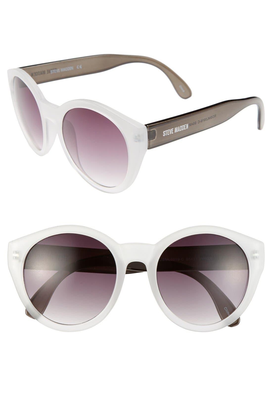 Main Image - Steve Madden 49mm Round Oversized Sunglasses