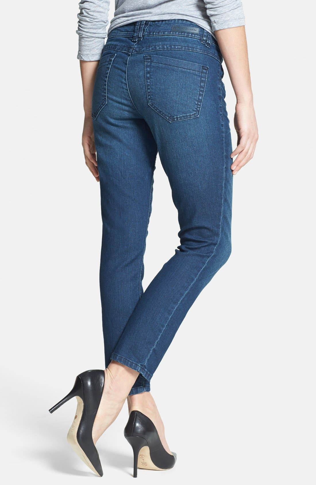 Alternate Image 2  - Wit & Wisdom Stretch Ankle Skinny Jeans (Tencel Indigo) (Nordstrom Exclusive)