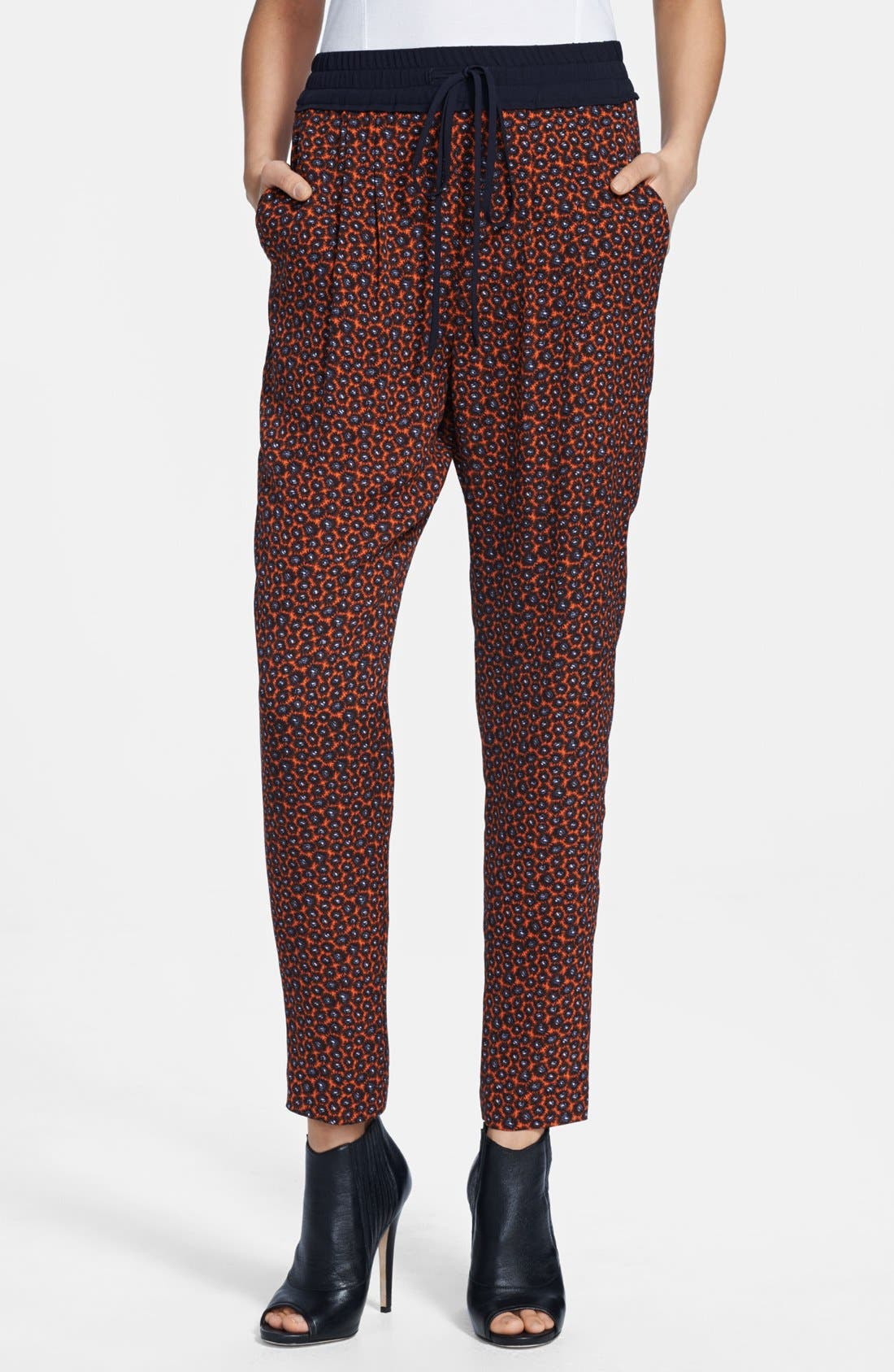 Alternate Image 1 Selected - A.L.C. 'Conley' Print Silk Pants