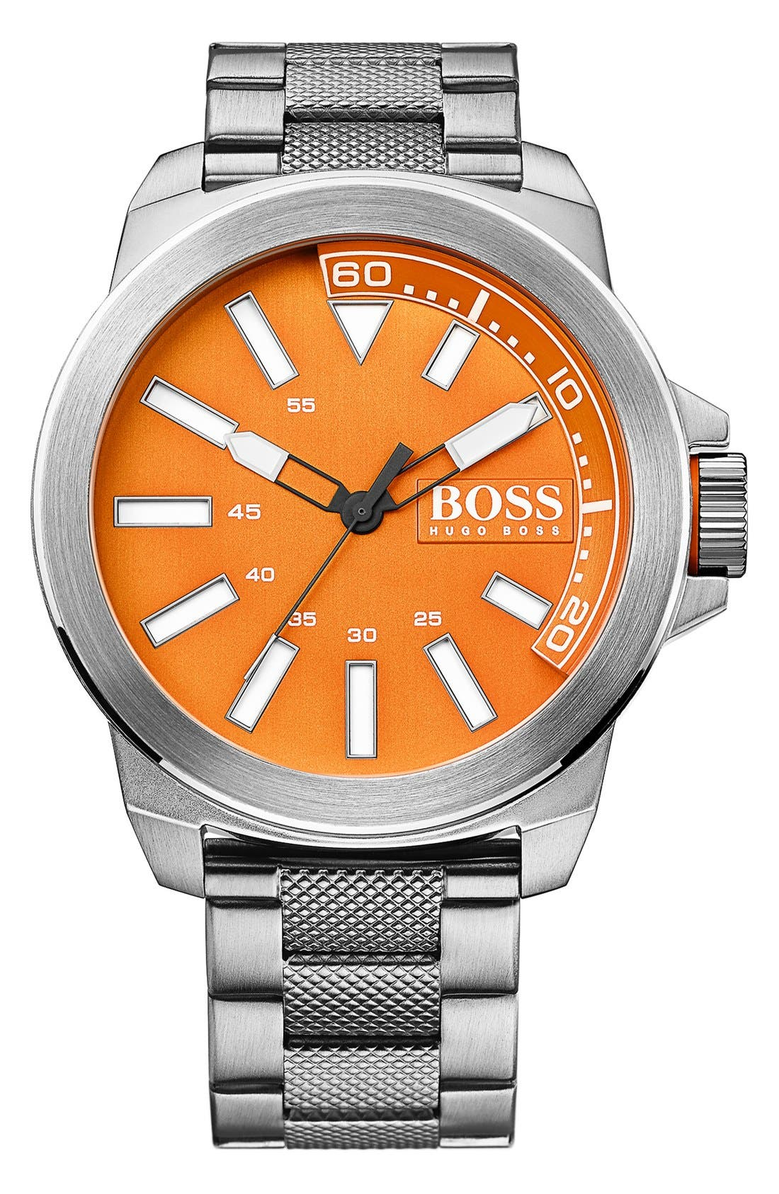 Main Image - BOSS Orange Textured Bracelet Watch, 50mm