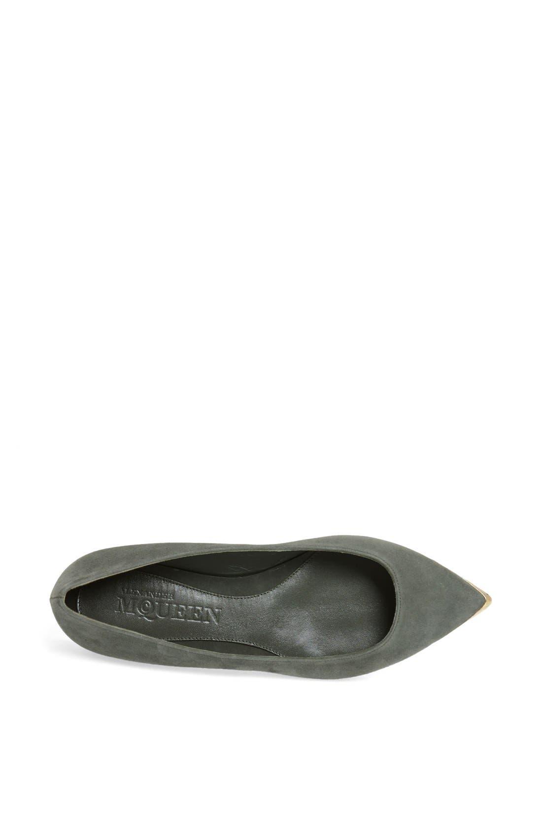 Alternate Image 3  - Alexander McQueen Metal Toe Ballet Flat