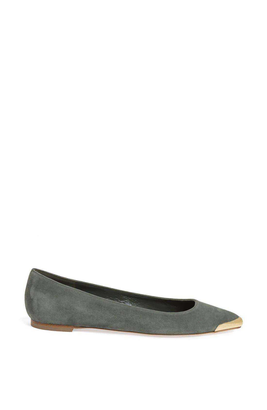 Alternate Image 4  - Alexander McQueen Metal Toe Ballet Flat