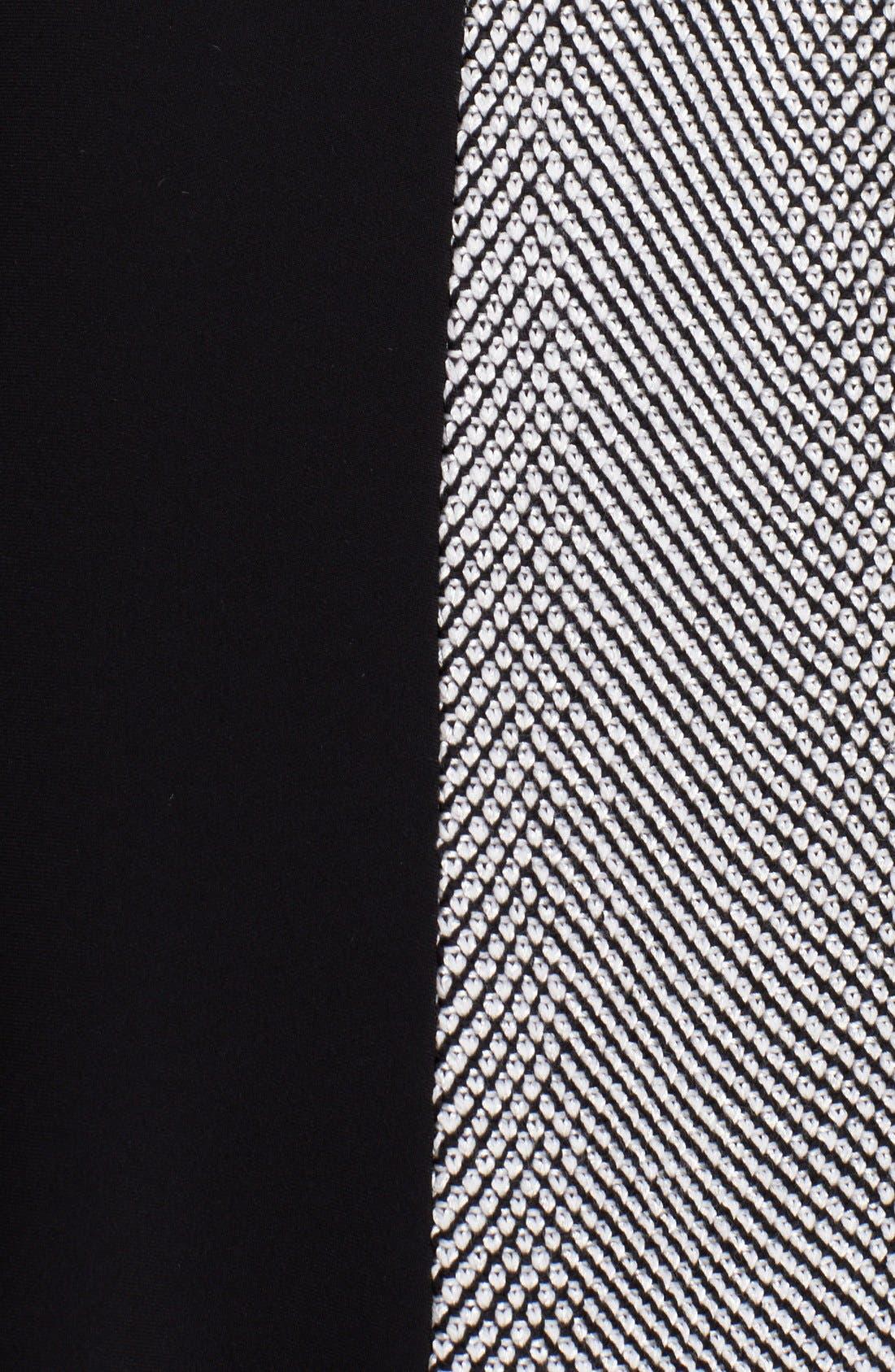 Alternate Image 3  - St. John Collection Bird's Eye Tweed & Crepe Marocain Dress