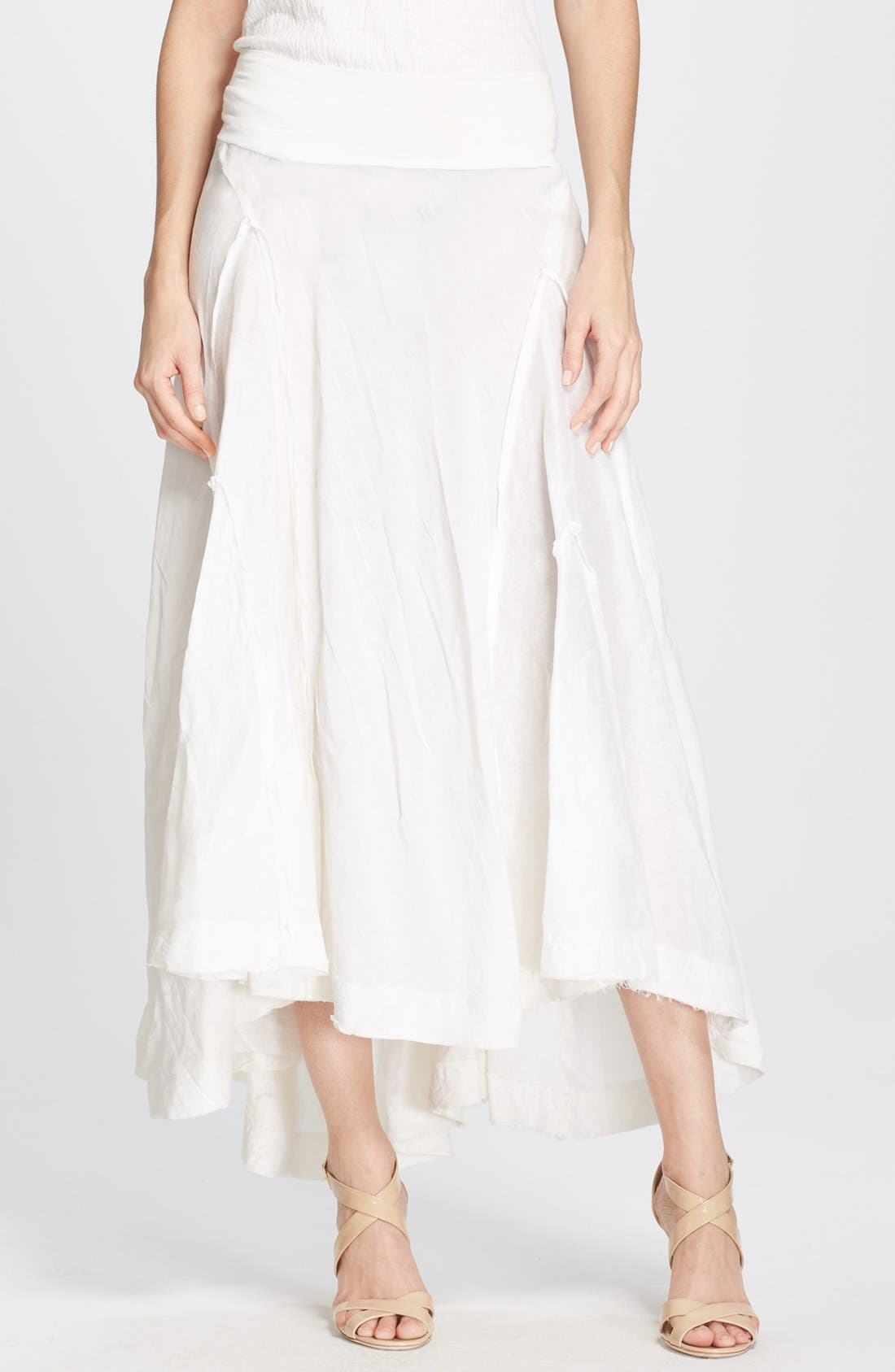 Main Image - Donna Karan Collection Linen & Silk Midi Skirt