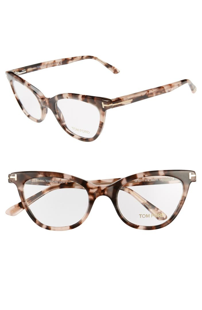 tom ford 49mm cat eye optical glasses online only. Black Bedroom Furniture Sets. Home Design Ideas