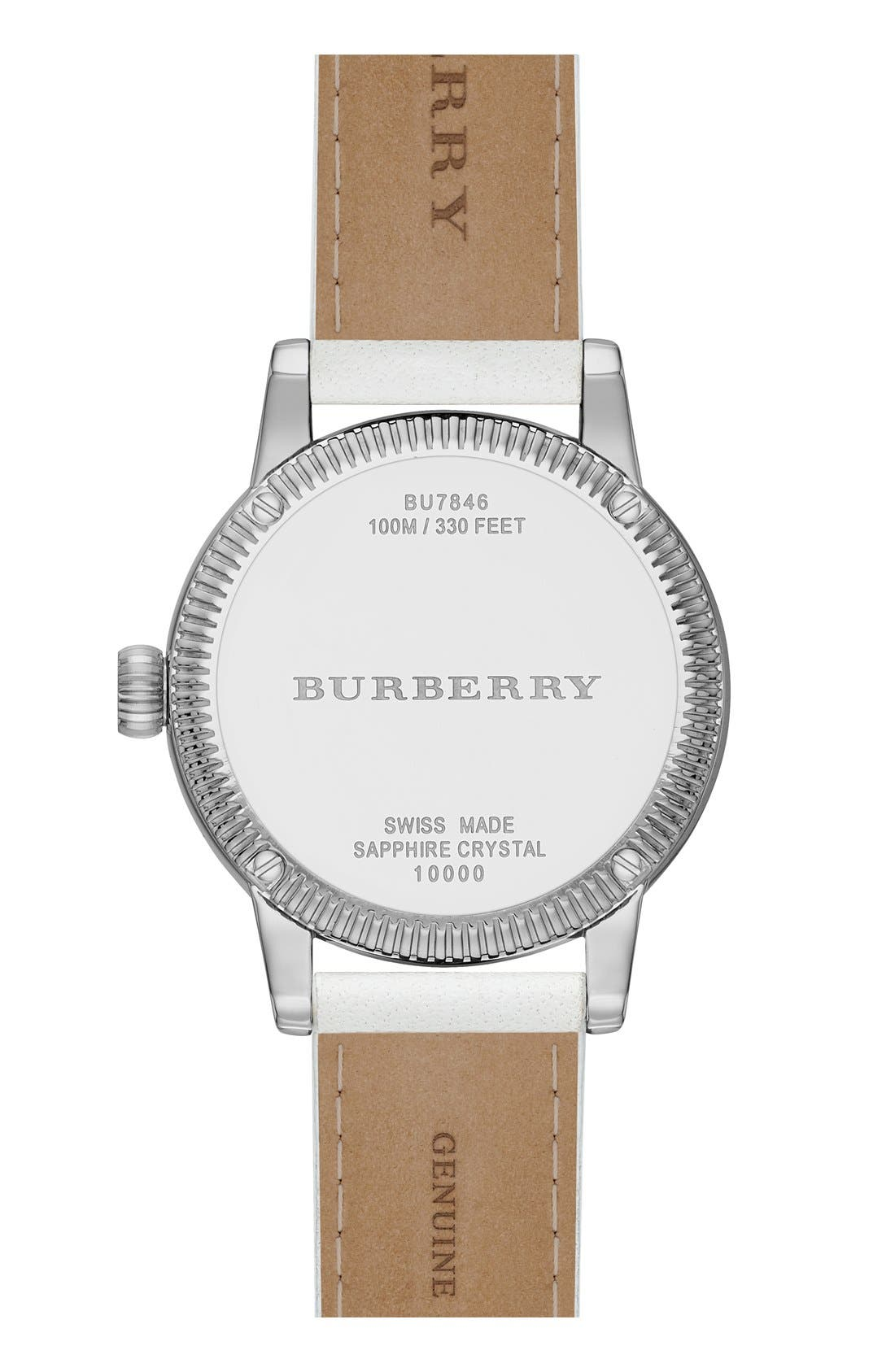 Alternate Image 3  - Burberry 'Utilitarian' Round Leather Wrap Watch, 30mm