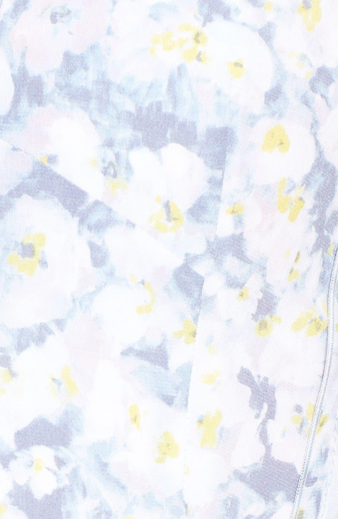 Alternate Image 4  - Rebecca Taylor Pleat Front Floral Silk Dress