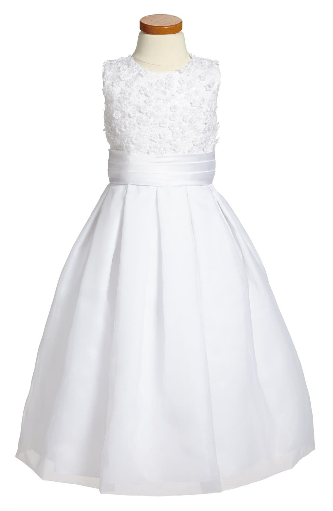 Joan Calabrese for Mon Cheri Sleeveless First Communion Dress (Big Girls)