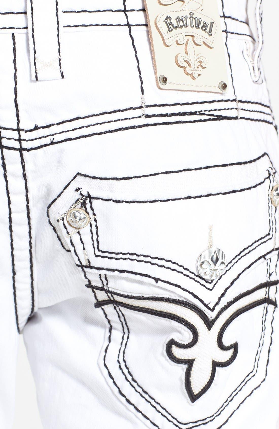 Alternate Image 4  - Rock Revival 'Dan' Straight Leg Jeans (White)