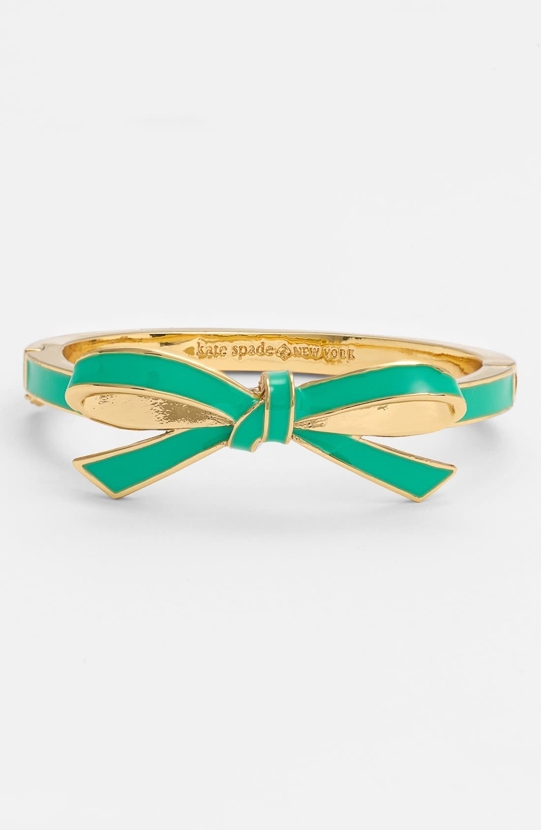 Alternate Image 1 Selected - kate spade new york 'finishing touch' enamel bow hinged bangle