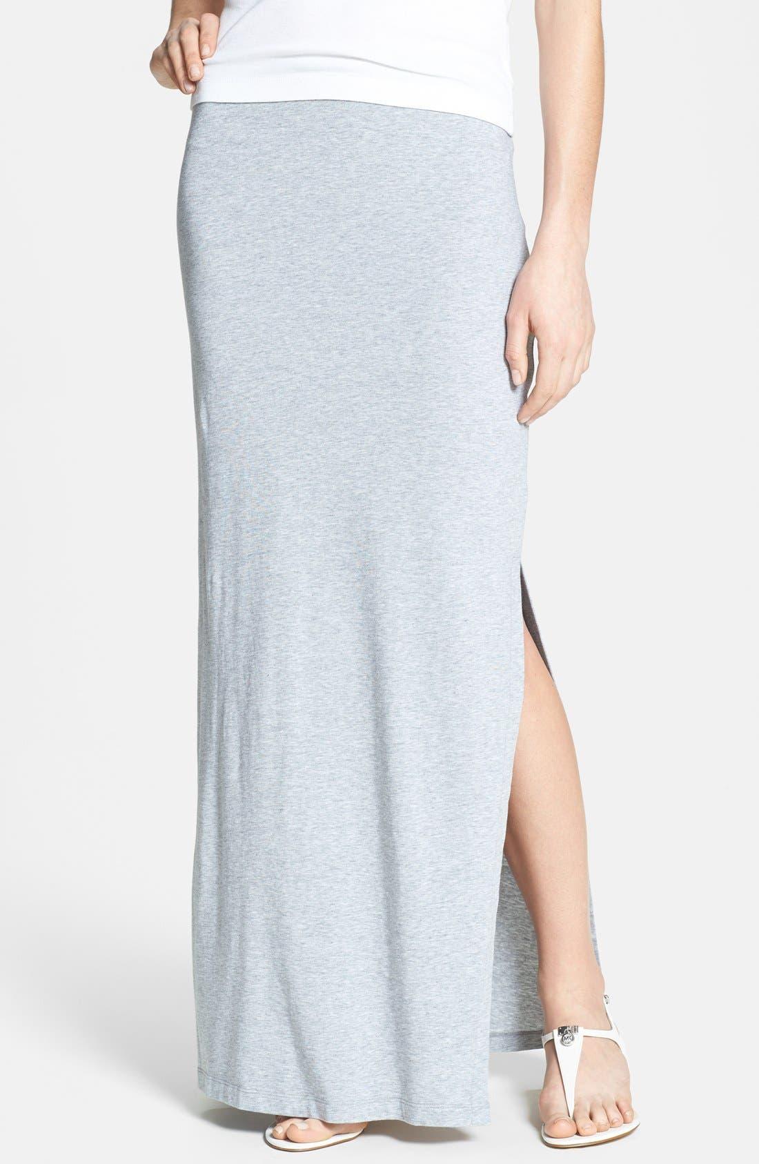 Main Image - MICHAEL Michael Kors Side Slit Stretch Knit Maxi Skirt