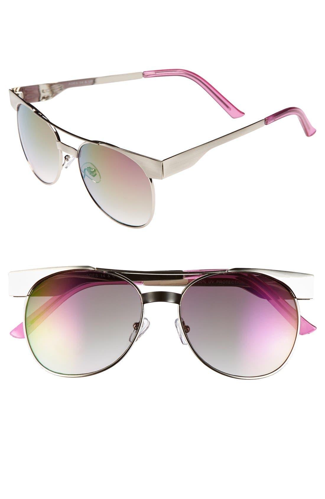 Main Image - FE NY 'Dark Shadow' 56mm Sunglasses