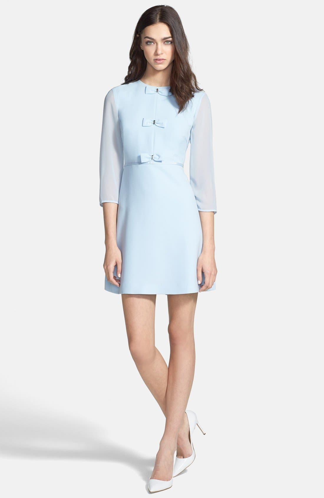 Main Image - Ted Baker London Bow Detail Stretch A-Line Dress