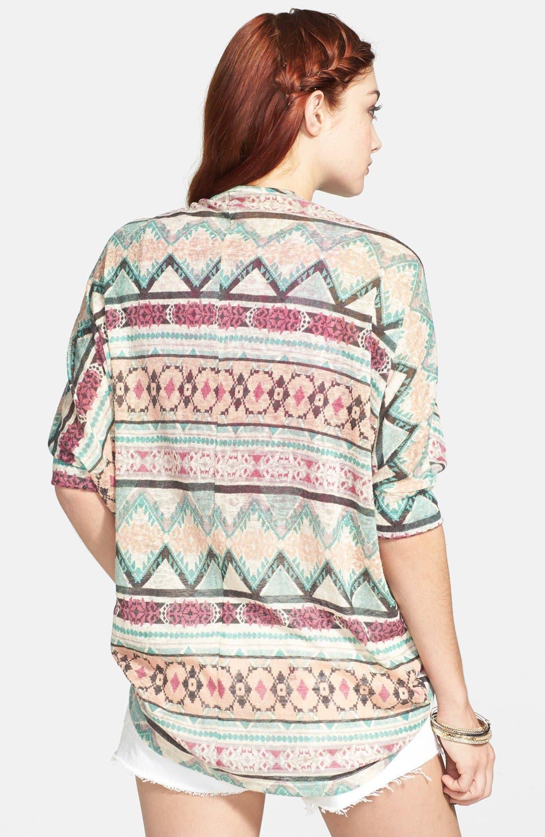 Alternate Image 2  - Painted Threads Dolman Sleeve Knit Cardigan (Juniors)