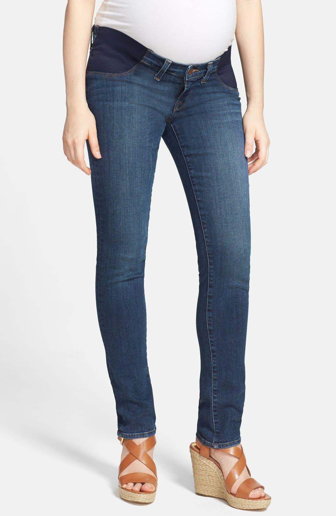 Alternate Image 1 Selected - J Brand 'Rail' Skinny Maternity Jeans (Eminence)