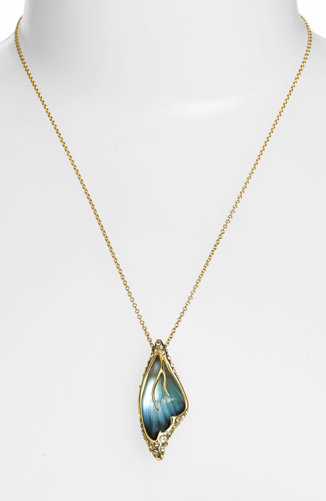 Alternate Image 2  - Alexis Bittar 'Lucite® - Jardin Mystère' Butterfly Wing Pendant Necklace