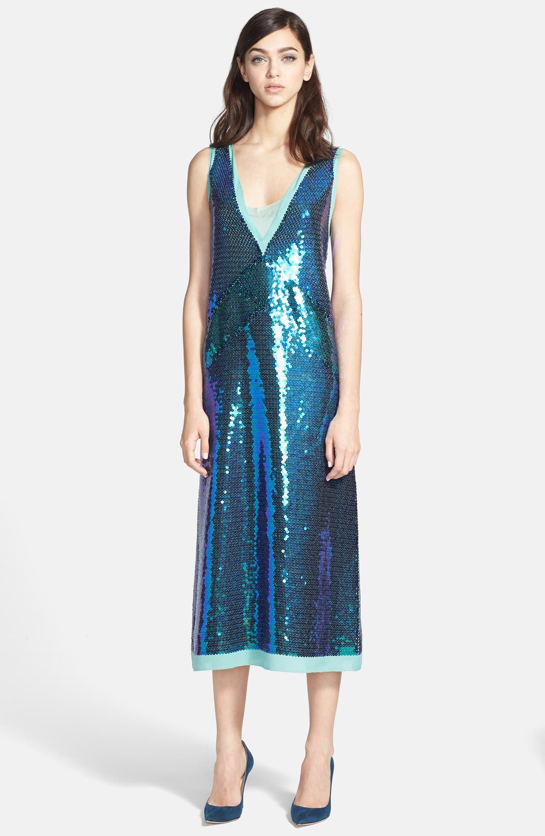 Alternate Image 1 Selected - MARC BY MARC JACOBS 'Stelli' Sequin Silk Midi Dress