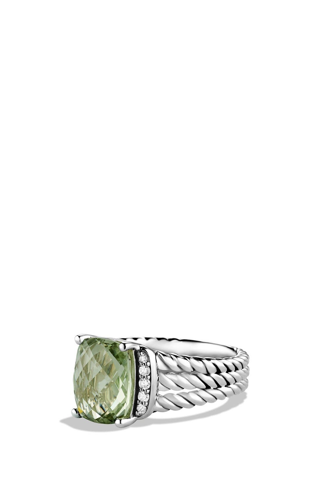 David Yurman 'Wheaton' Petite Ring with Semiprecious Stone & Diamonds