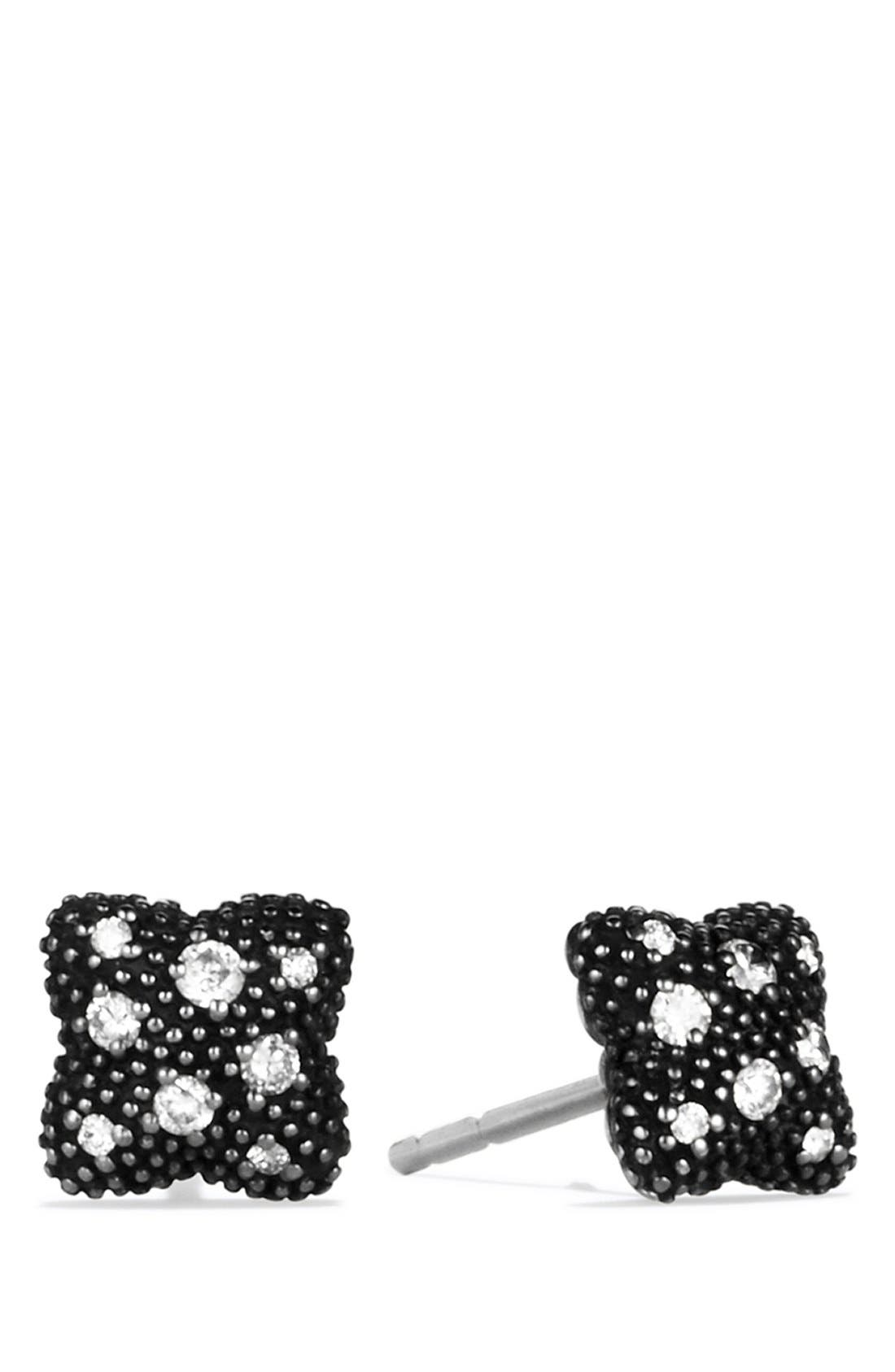 Alternate Image 1 Selected - David Yurman 'Midnight Mélange - Quatrefoil' Earrings with Diamonds