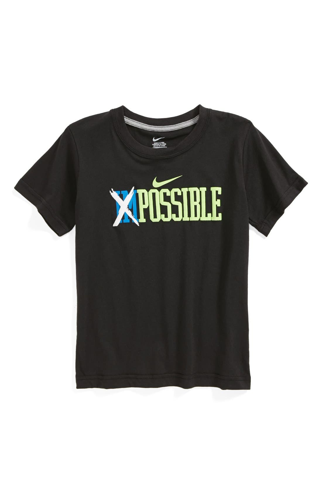 Alternate Image 1 Selected - Nike 'Possible' T-Shirt (Little Boys)