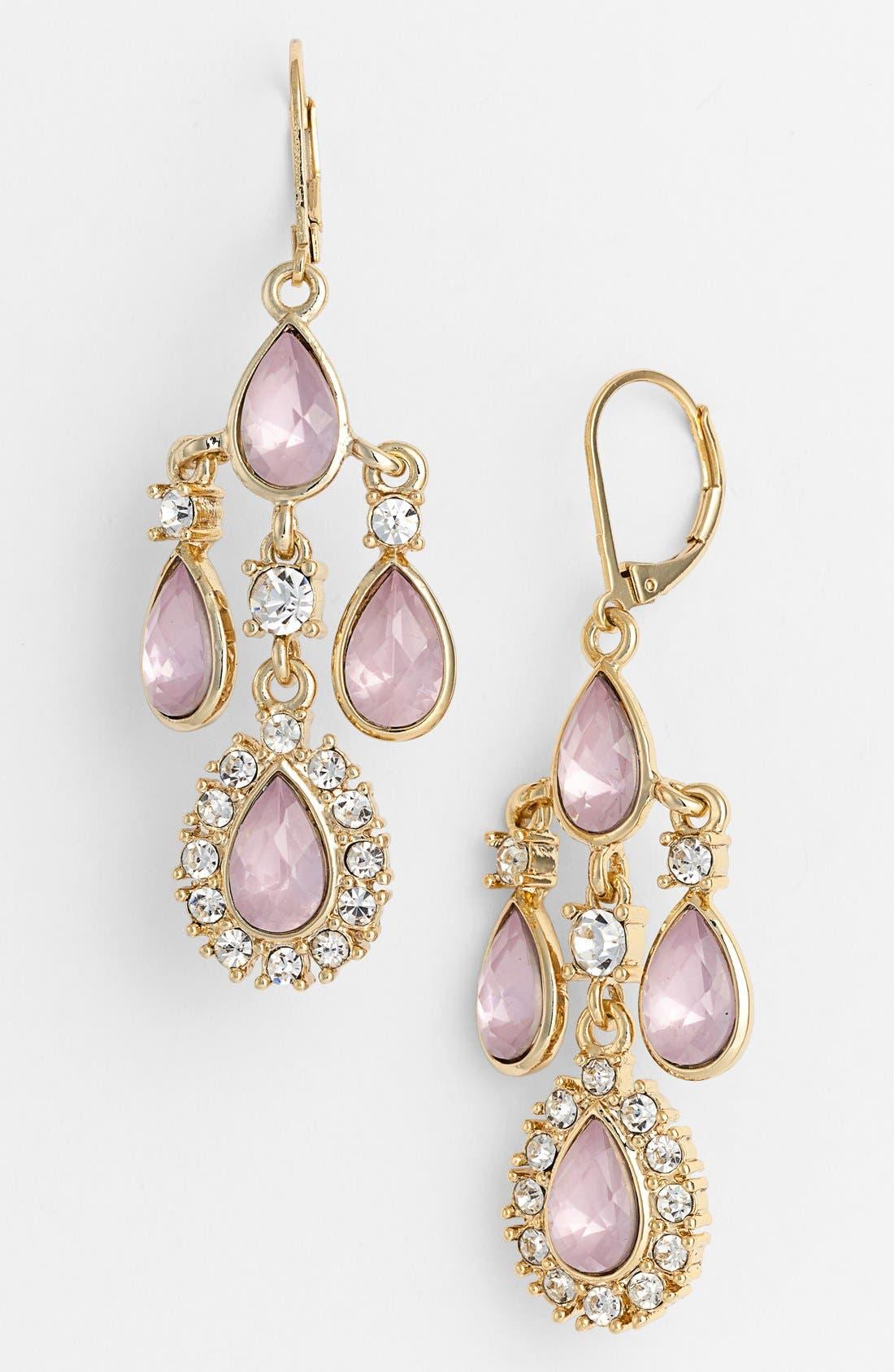 Alternate Image 1 Selected - Anne Klein Teardrop Chandelier Earrings