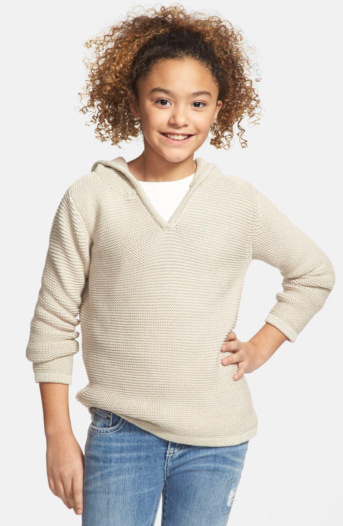 Alternate Image 2  - Peek 'Becca' Hooded Sweater (Toddler Girls, Little Girls & Big Girls)