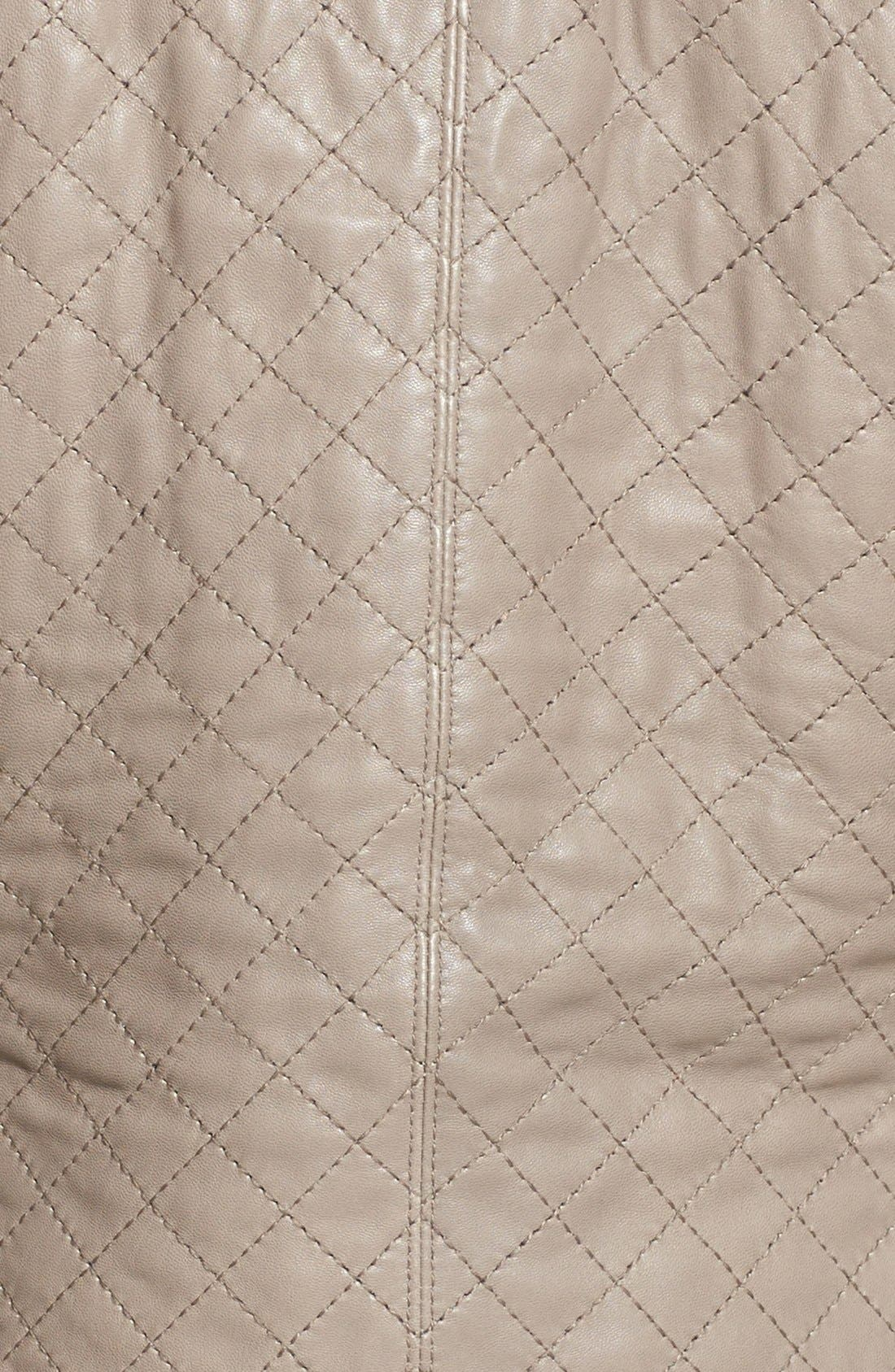 Alternate Image 3  - Trina Turk 'Winston' Zip Front Leather Jacket