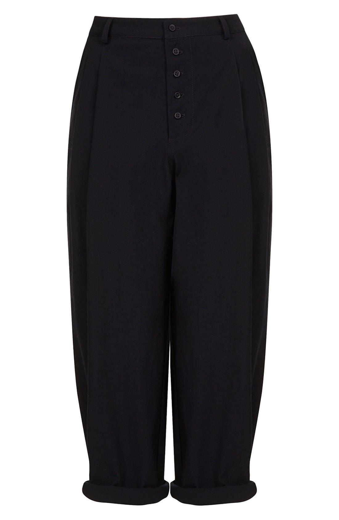 Alternate Image 3  - Topshop Boutique Wide Leg Wool Trousers