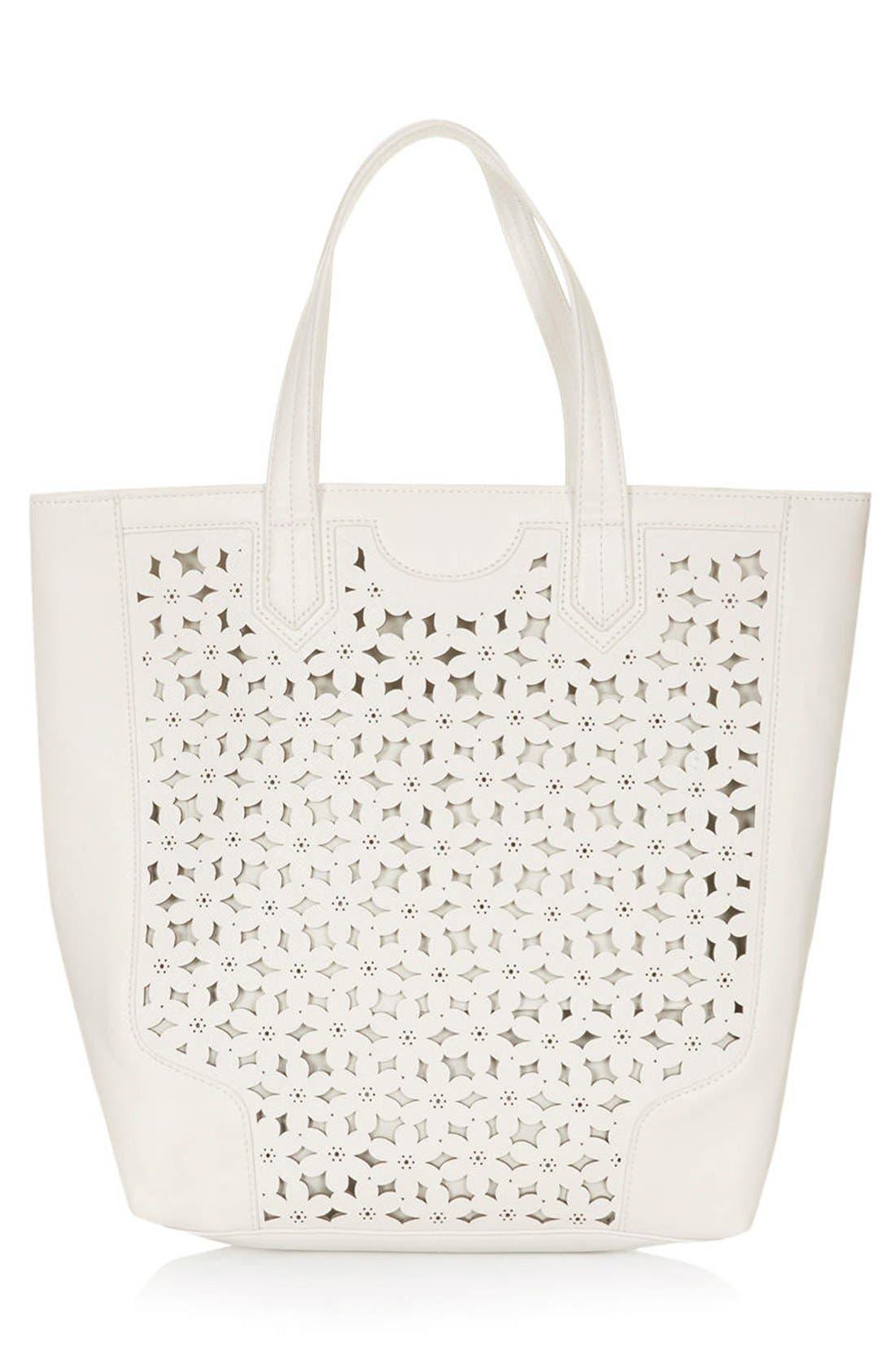 Alternate Image 1 Selected - Topshop Daisy Cutout Tote Bag