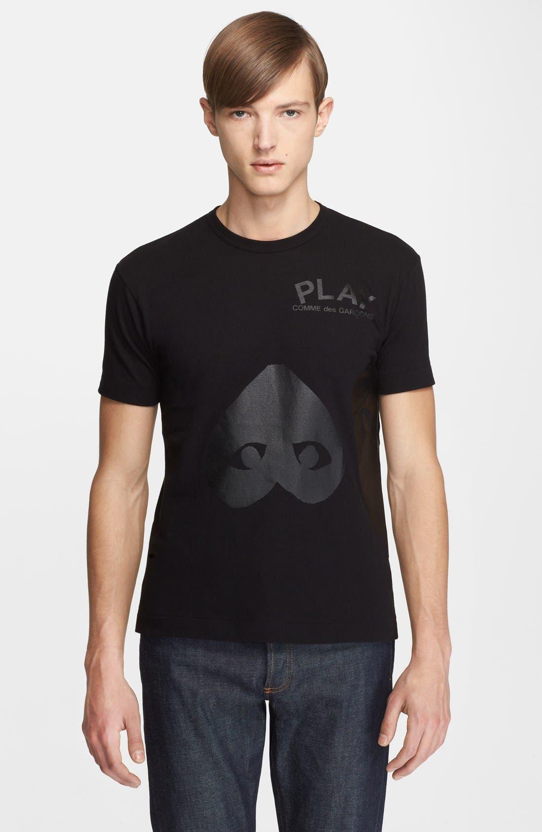 Alternate Image 1 Selected - Comme des Garçons PLAY Inverted Heart Print T-Shirt