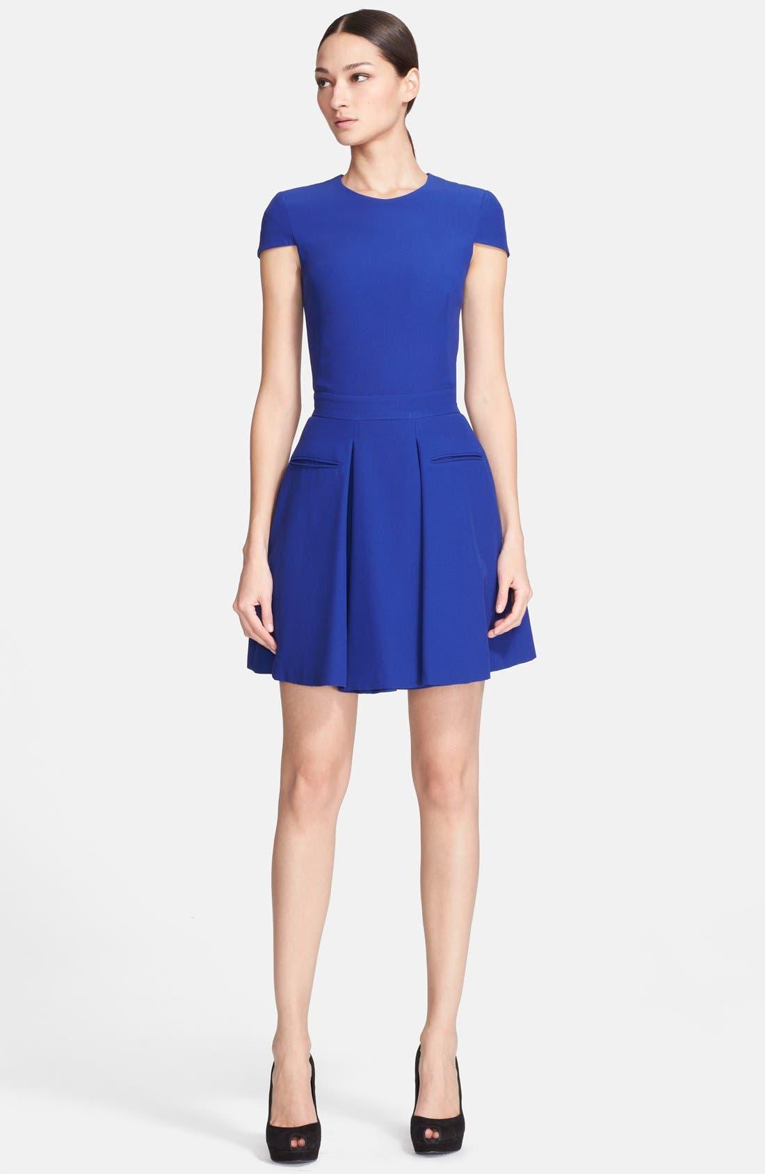 Alternate Image 1 Selected - Alexander McQueen Crepe Dress