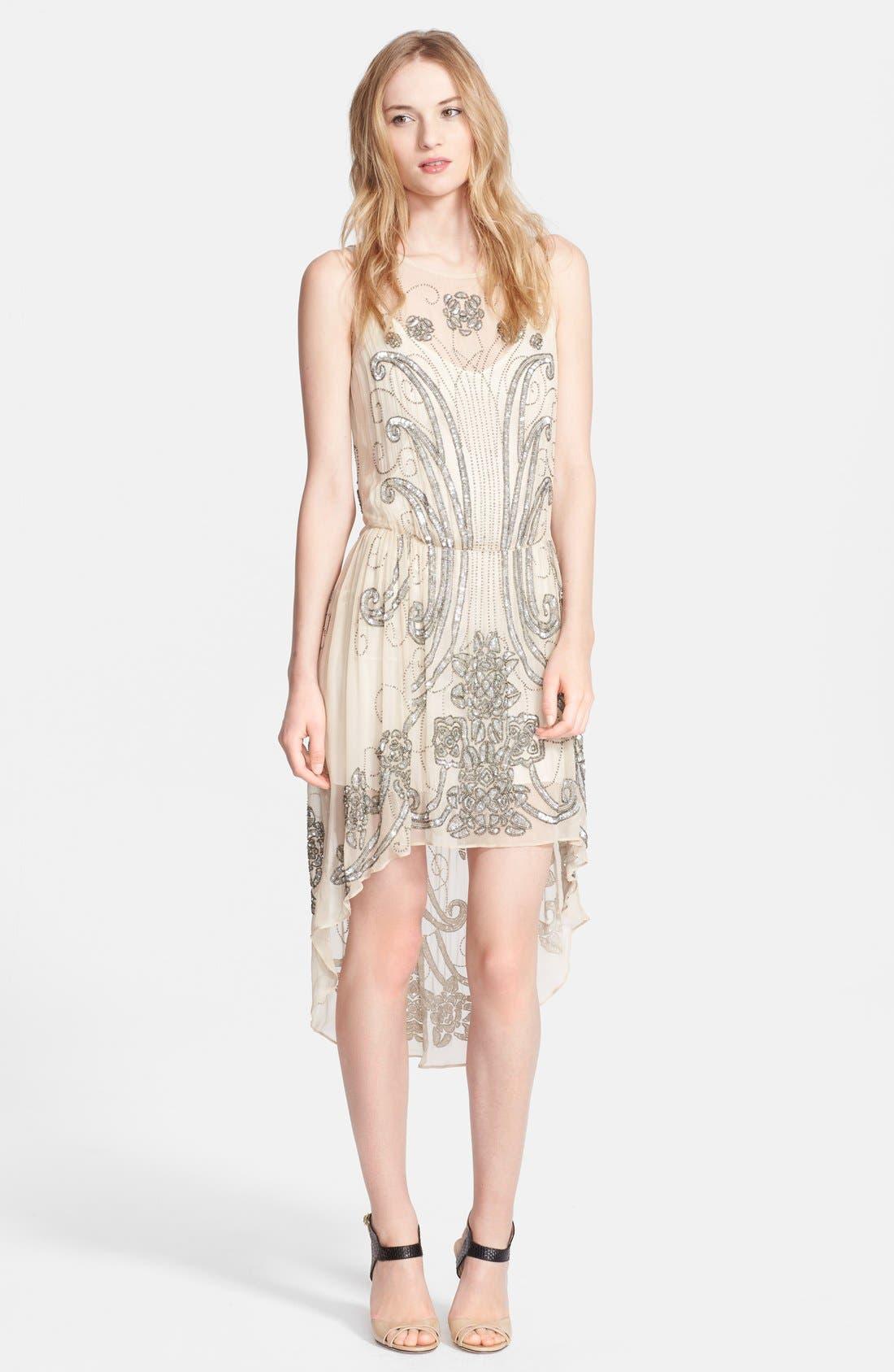 Alternate Image 1 Selected - Haute Hippie Embellished Silk Dress