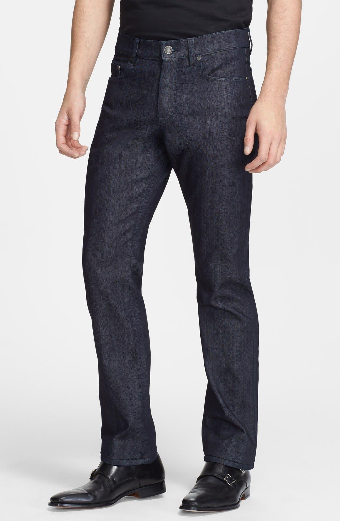 Main Image - Z Zegna Slim Straight Leg Jeans (Navy Solid)