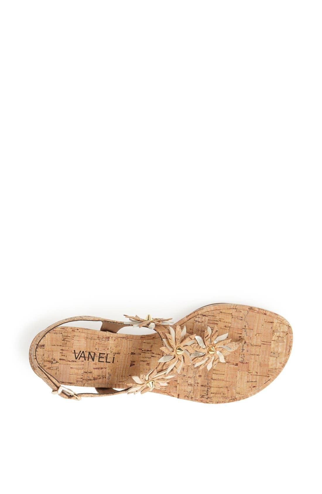 Alternate Image 4  - VANELi 'Kenan' Wedge Thong Sandal