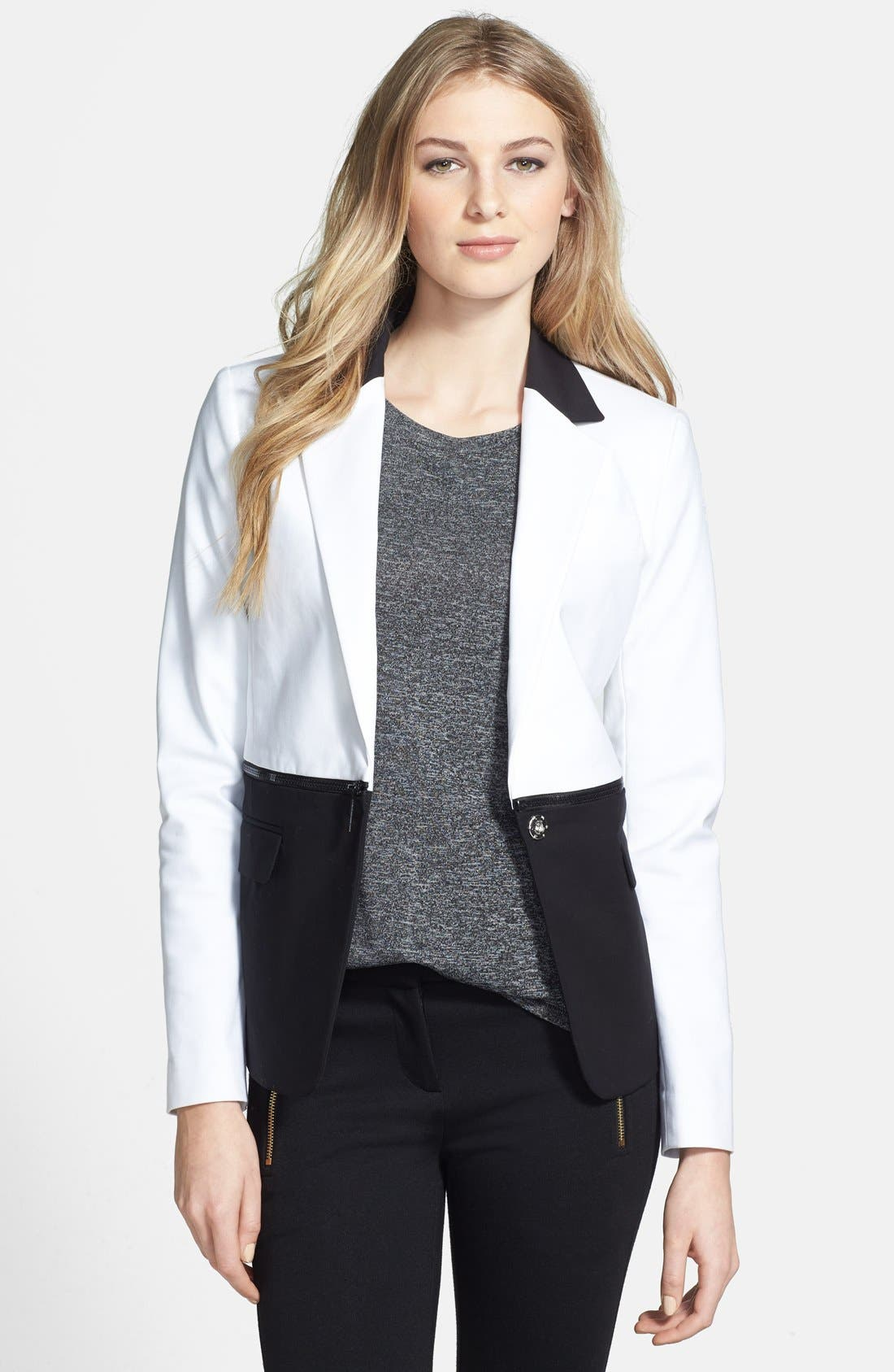 Alternate Image 1 Selected - MICHAEL Michael Kors 'Chop' Colorblock Blazer