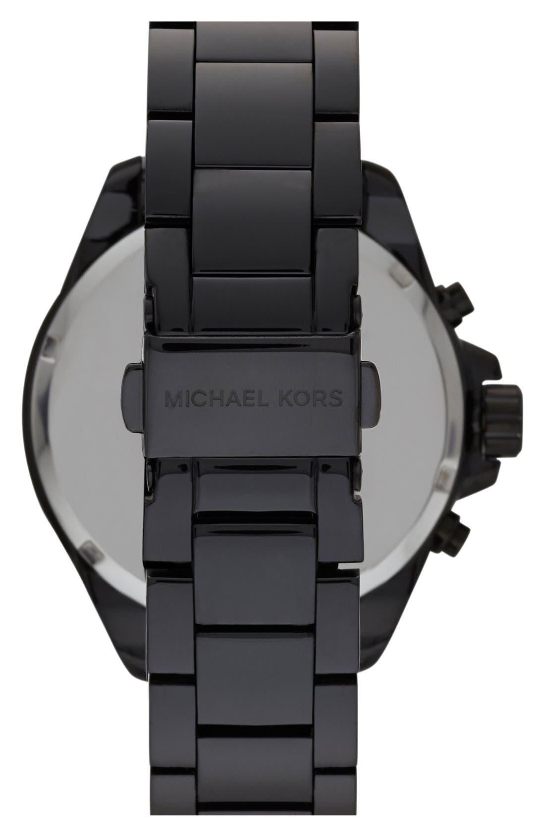 Alternate Image 2  - Michael Kors 'Wren' Pavé Dial Chronograph Bracelet Watch, 42mm