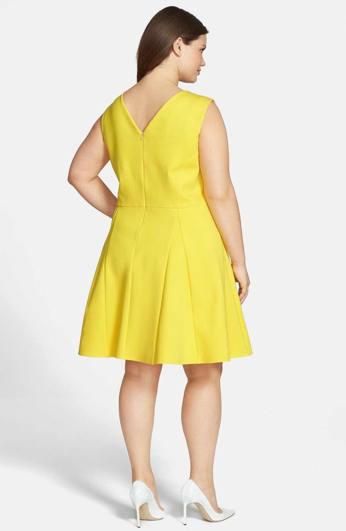 Alternate Image 2  - ABS by Allen Schwartz Sleeveless Fit & Flare Dress (Plus Size)
